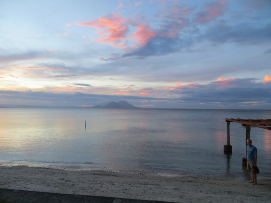 sunset in Rabaul