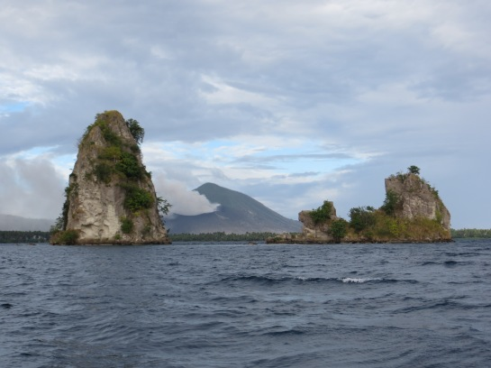 The Beehives in Rabaul's Harbor