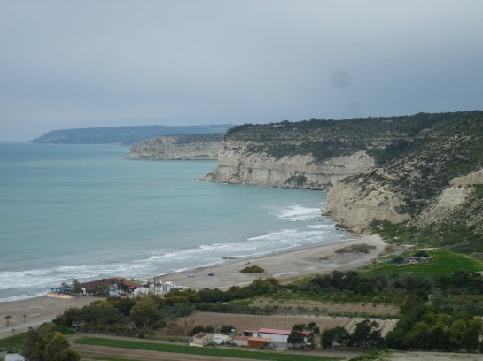 Cyprus coastline seen from the ruins of Kurion